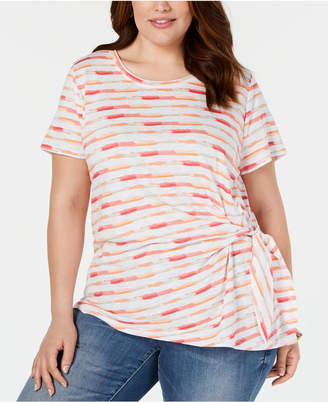 Style&Co. Style & Co Plus Size Side-Tie T-Shirt