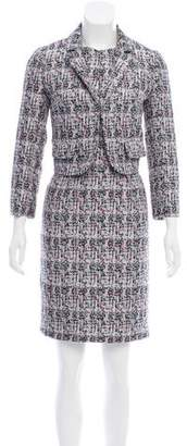 Paule Ka Jacquard Dress Suit