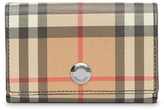 Burberry Small Vintage Check E-canvas Folding Wallet