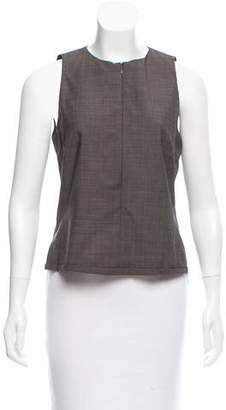 Rene Lezard Sleeveless Scoop Neck Top