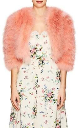 Alberta Ferretti Women's Marabou-Feather Crop Jacket - Lt Pink