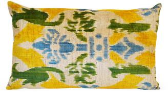 Orientalist Home Vivid 16x24 Silk Pillow - Yellow