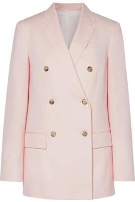 Calvin Klein Double-breasted Wool-twill Blazer - Pastel pink