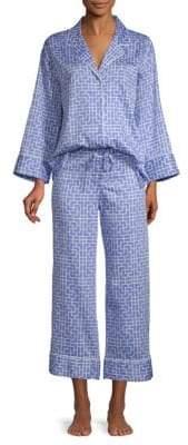 Natori Two-Piece Graphic Cotton Pajama Set