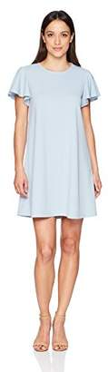 Tiana B Women's Petite Short Ruffle Sleeve a-Line Dress