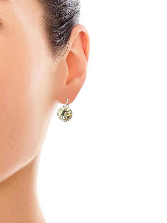 Kiki McDonough Diamond, amethyst & gold earrings