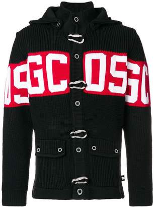 Gcds hooded buttoned jacket
