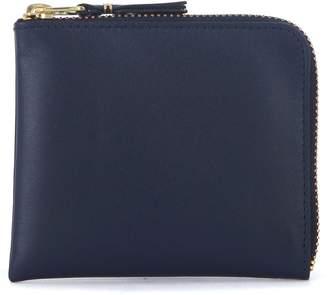 Comme des Garcons Blue Leather Wallet