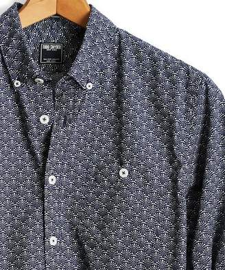 Todd Snyder Liberty Geoprint Button Down Shirt in Navy