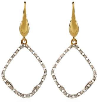 Monica Vinader Riva Diamond Hoop Earrings