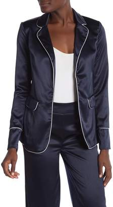 Love by Design Stretch Satin Piped Blazer