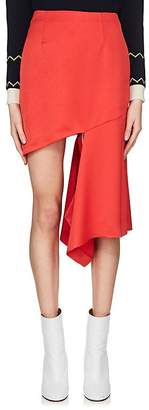 Maison Margiela Women's Cutout Satin Wool Miniskirt