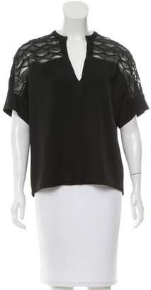 Maiyet Short Sleeve Embroidered Top
