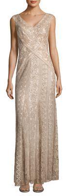 Tadashi Shoji Lace Godet Dress $510 thestylecure.com