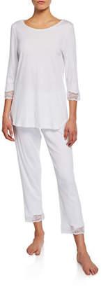 Hanro Valencia Crop Pajama Set