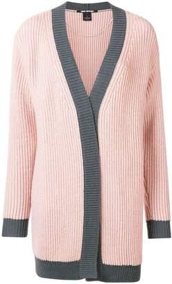 Pinko embellished colour block cardigan