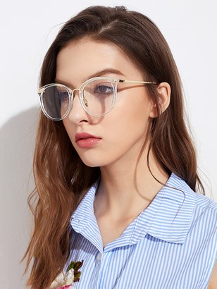 Shein Metal Frame Clear Lens Glasses