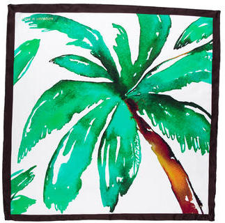 Kate SpadeKate Spade New York Palm Tree Silk Scarf