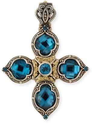Konstantino London Blue Topaz Cross Enhancer