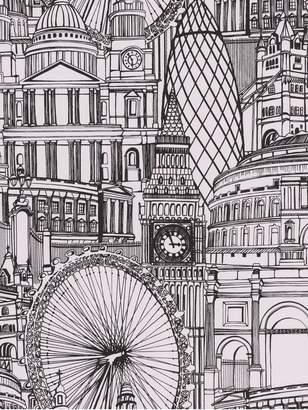 Graham & Brown White londinium wallpaper