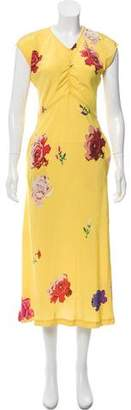 Creatures of Comfort Floral Silk Dress w/ Tags