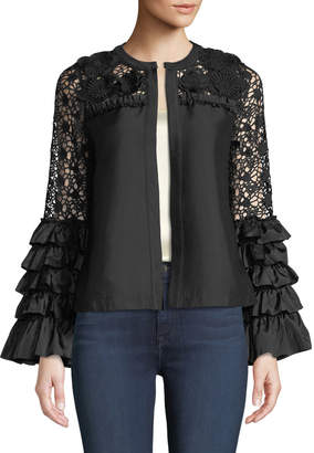 Lumie Tiered Ruffle-Sleeve Topper Jacket