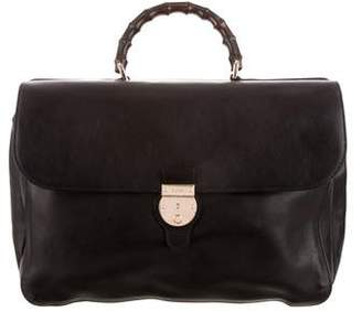 Gucci Bamboo Handle Soft Briefcase
