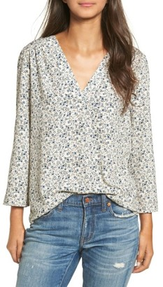 Women's Hinge Print V-Neck Top $69 thestylecure.com