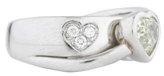 Ring Platinum Diamond Heart