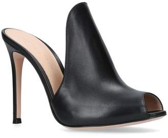 Gianvito Rossi Leather Aramis Mules 105