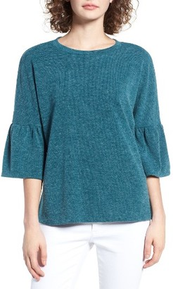 Women's Wayf Ruffle Elbow Sleeve Top $39 thestylecure.com
