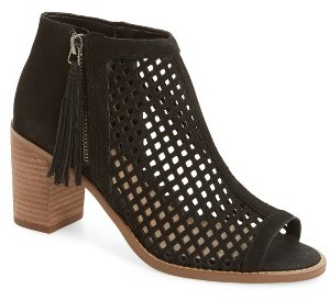 Women's Vince Camuto Tresin Perforated Open-Toe Bootie $128.95 thestylecure.com