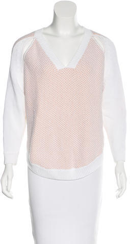 3.1 Phillip Lim 3.1 Phillip Lim Cutout-Accented V-Neck Sweater w/ Tags