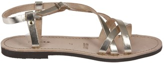 P.A.R.O.S.H. Crossover Strap Flat Sandals