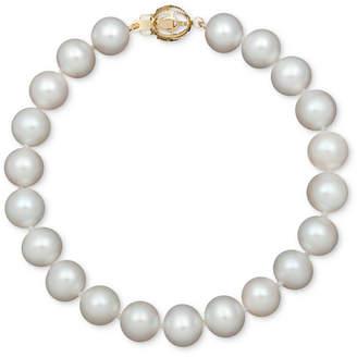 Belle de Mer AA+ Cultured Freshwater Pearl Strand Bracelet (7-1/2-8-1/2mm) in 14k Gold