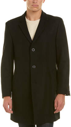 Ike Behar Savoy Wool-Blend Coat