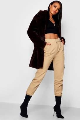 boohoo Jasmine Boutique Oversized Collar Faux Fur Coat