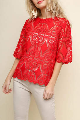 Umgee Crochet Lace Top