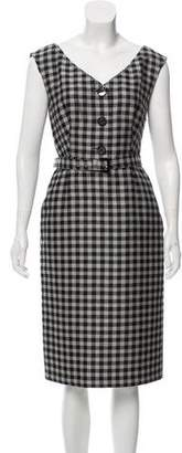 Prada Plaid Wool Dress
