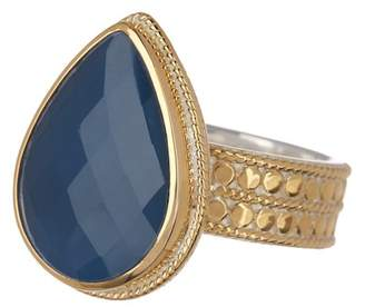 Anna Beck 18K Gold Plated Sterling Silver Blue Topaz Ring