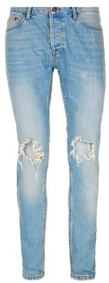 Light Wash Blue Extreme Ripped Stretch Skinny Jeans $85 thestylecure.com