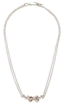 18K Diamond Knot Pendant Necklace