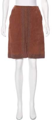 Elizabeth and James Suede Knee-Length Skirt
