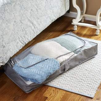 Symple Stuff Zippered Fabric Underbed Storage with Plastic Top