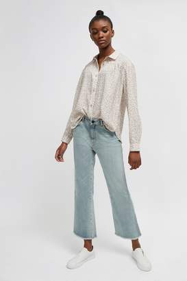 French Connenction Baylee Smooth Crepe Pleated Shirt