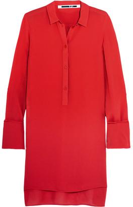 McQ Alexander McQueen - Chiffon Shirt - Red $415 thestylecure.com