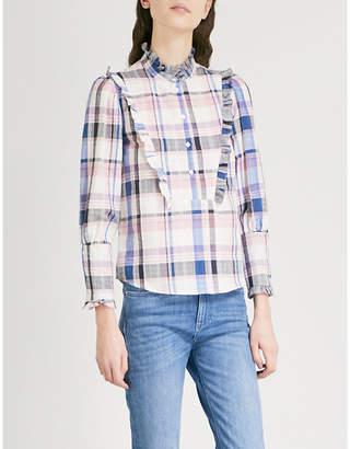 Claudie Pierlot Checked cotton-blend shirt