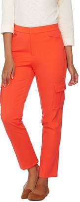 Isaac Mizrahi Live! Regular 24/7 Stretch Cargo Ankle Pants