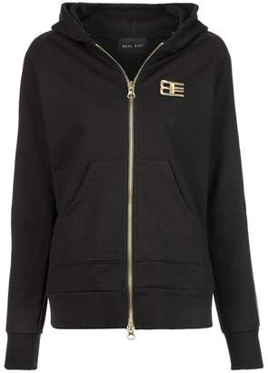 Baja East embroidered zip hoodie