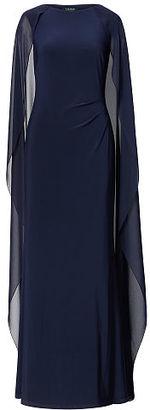 Ralph Lauren Georgette-Cape Jersey Gown $195 thestylecure.com